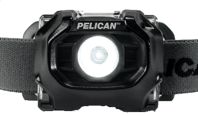 Front view of the Pelican 2755 intrinsically safe headlamp