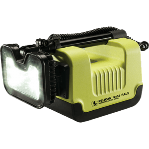 Front angled view of the Pelican Safety Certified remote area lighting system